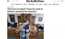 Los medios de Estados Unidos celebraron la aprobación del matrimonio gay en todo el país (7)