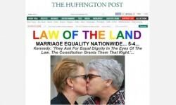 Los medios de Estados Unidos celebraron la aprobación del matrimonio gay en todo el país (8)