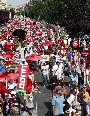 Manifestación de funcionarios en una imagen de archivo.
