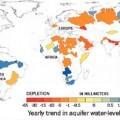 Mapa de las reservas mundiale de agua