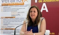 María del Mar Villafranca en una conferencia.