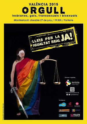 Por vez primera el ayuntamiento de Valencia organiza un acto institucional por el día del Orgullo LGTB.
