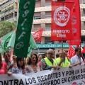 Protesta de los trabajadores de Correos.