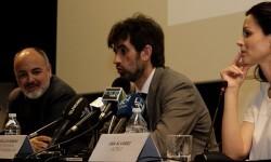 Rafael Maluenda, José Luis Moreno y Ana Álvarez.