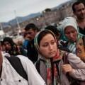 Refugiados que llegan a Grecia.