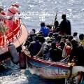 Rescate de casi mil migrantes.