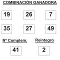 Resultados del sorteo de la Bonoloto martes 2 de junio de 2015