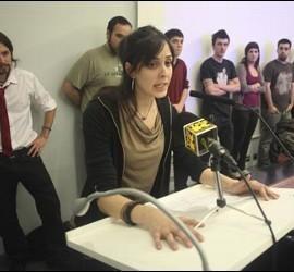Rita Maestre, de la formación Ahora Madrid en una imagen de archivo durante la pasada campaña electoral.