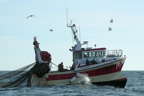 Un barco de pesca español.