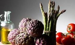 Verduras con aceite de oliva.