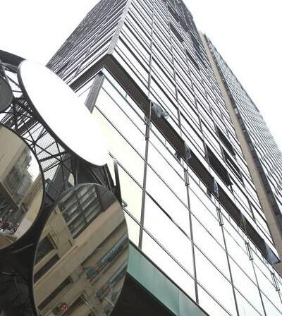 Vista de la sede de un banco argentino en Buenos Aires.