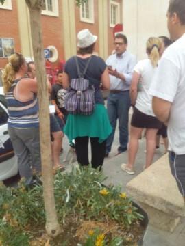 Los vecinos afectados se enfrentan al alcalde en funciones. Foto: La Red Comarcal.