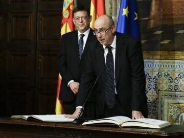 Manuel Alcaraz, en su reciente toma de posesión como conseller. Foto de archivo