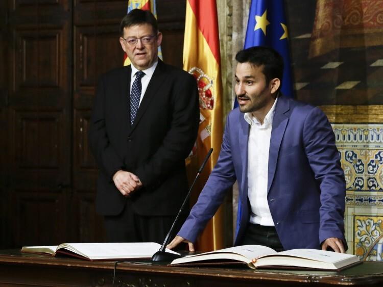 Vicent Marzà durante su toma de posesión como conseller de Educación, Investigación, Cultura y Deportes