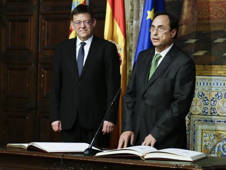 Vicent Soler durante su toma de posesión como conseller de Hacienda y Modelo Económico