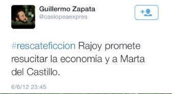 Tuit de Zapata de junio de 2012.