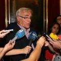 Ribó atendió a los medios tras el Pleno de hoy.