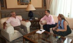 Joan Ribó, reunido con el alcalde de Aldaia.