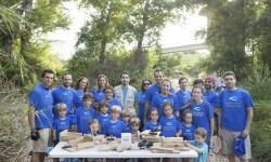 Voluntarios del Grupo Aguas de Valencia que participaron dejaron construidos varios refugios para que puedan anidar murciélagos