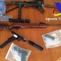 Armas encontradas en la banda criminal.