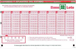 Bonoloto martes