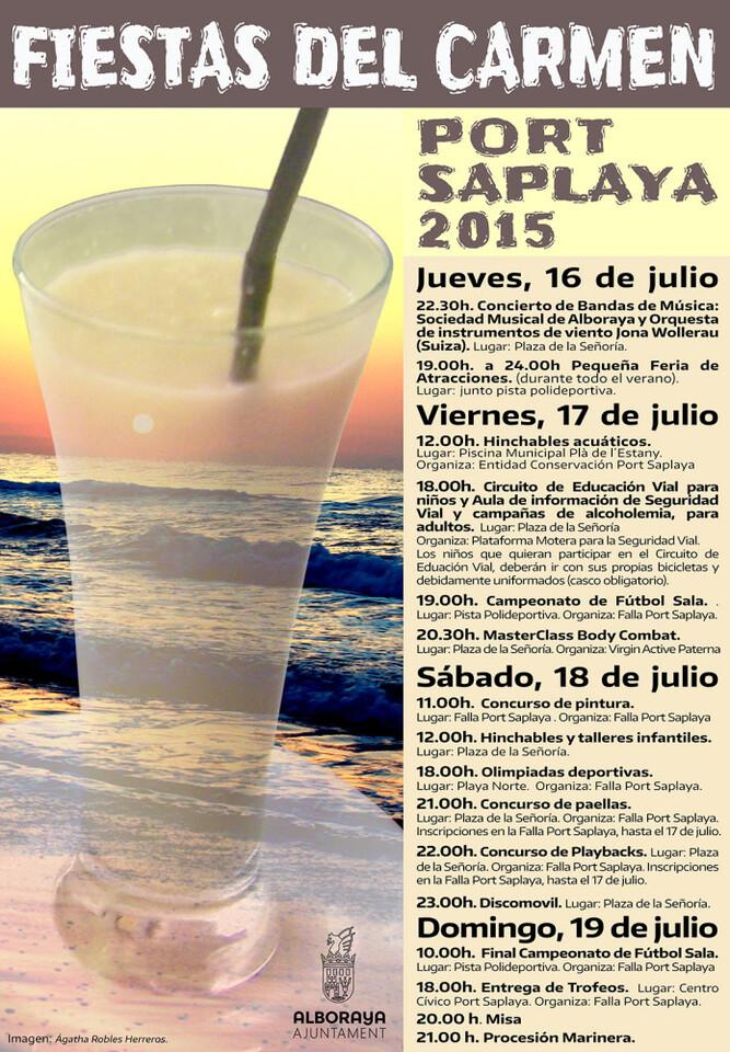 CARTELL festes Port Saplaya 2015
