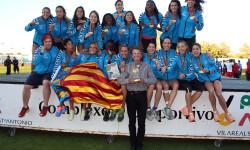 Celebrando el título de Campeonas de Europa (por segunda vez consecutiva) en 2014.