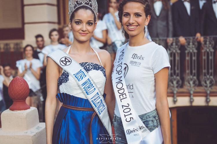 Cecilia Bellido, actual Miss World Valencia junto a Sandra García, galardonada Miss World TOP MODEL 2015 del área de Valencia
