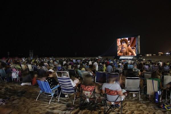 Cine en Puerto Sagunto.