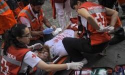 Comienzo sangriento en San Fermín un herido de gravedad (7)