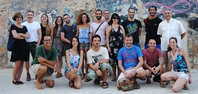 Componentes de la Plataforma de Iniciativas Culturales Urbanas de Valencia.