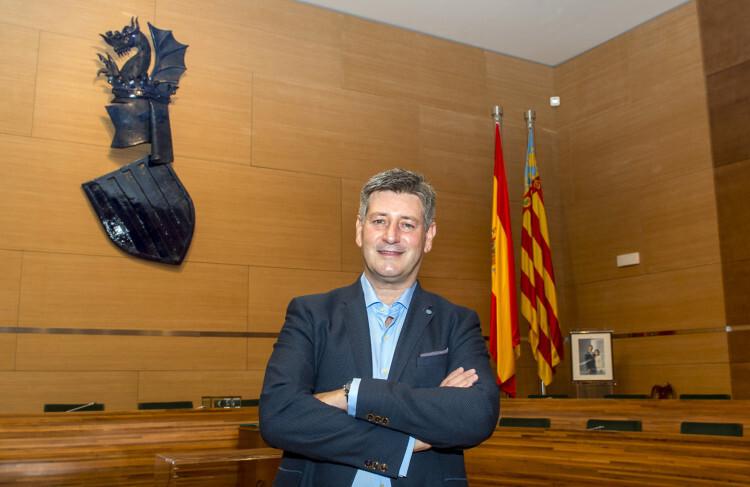 José Enrique Aguar, en la Diputación de Valencia. Foto: Abulaila