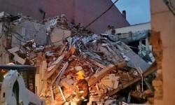 Edificio destruido por la explosión.