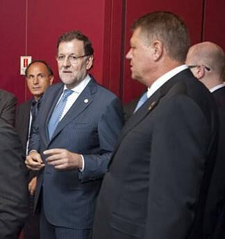 El presidente Rajoy junto al presidente de Rumanía.