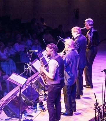 El septeto The Cookers en una de sus actuaciones en Valencia. (Foto-VLCNoticias).
