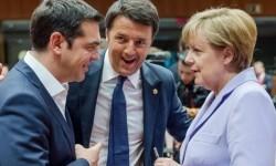 Encuentro entre Tsipras y Merkel.