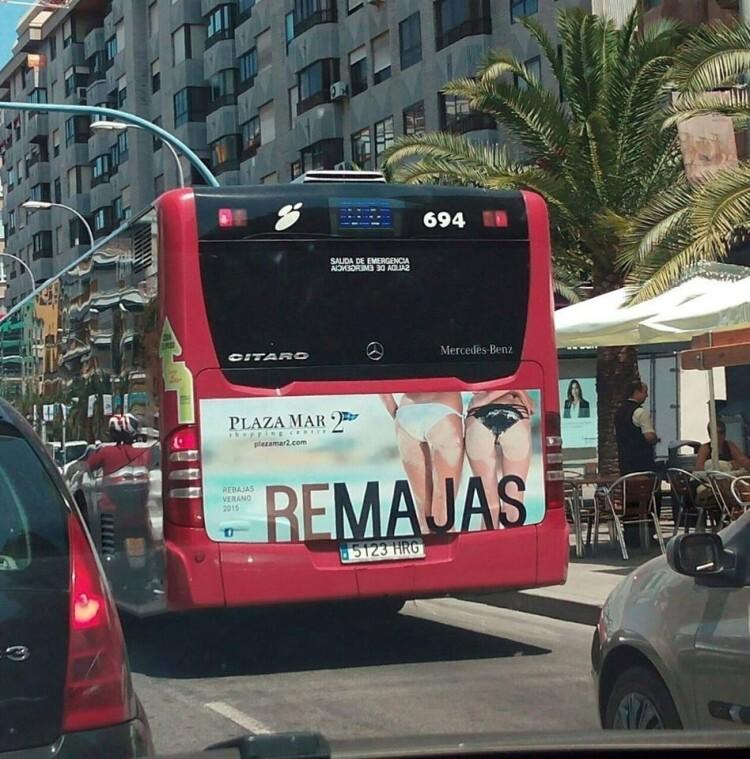Foto publicidad autobuses Alicante
