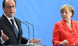 François Hollande y Ángela Merkel.