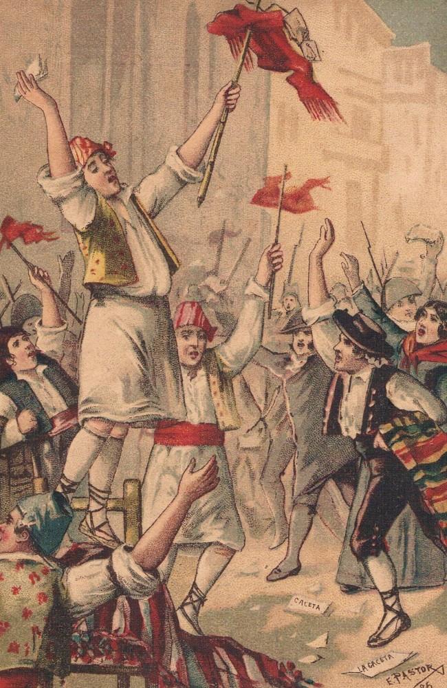 Guerra del Francés.El Palleter. Dibujo de Pastor. 1886