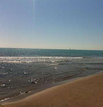 Imagen de una playa de la localidad de Oliva.