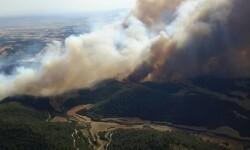 Incendio en la región aragonesa de Cinco Villas.