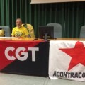 Joan Piñana (dcha) en la sede la CGT Castelló. (Foto-webCGTCastelló)