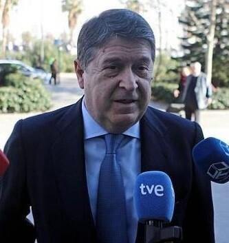 José Luis Olivas en una imagen tomada de la televisión.