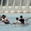 Kayaks en el Hemisfèric.