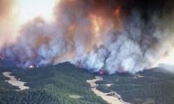 La comarca zaragozana de Cinco Villas afectada por un incendio.