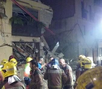 La explosión se produjo sobre la 1.30 de la madrugada.