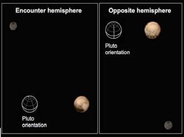 La nave New Horizons de la NASA ha obtenido nuevas imágenes que muestran dos caras muy diferentes del planeta enano (rtve)