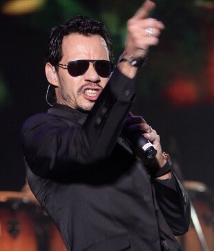 Marc Anthony en un momento de su gira 'Cambio de Piel World Tour 2015'.