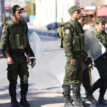 Miembros de las fuerzas de Autoridad Palestina