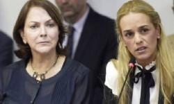Mitzy Capriles (esposa de Antonio Ledezma) y Lilian Tintori (esposa de Leopoldo López)